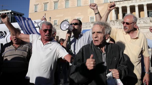 Αντικυβερνητικές διαδηλώσεις στην Αθήνα