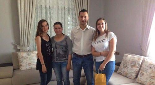 Eyalet Başkan Yardımcısı Önder Mümin'den Gülcan M. Efendi'ye tebrik ziyareti
