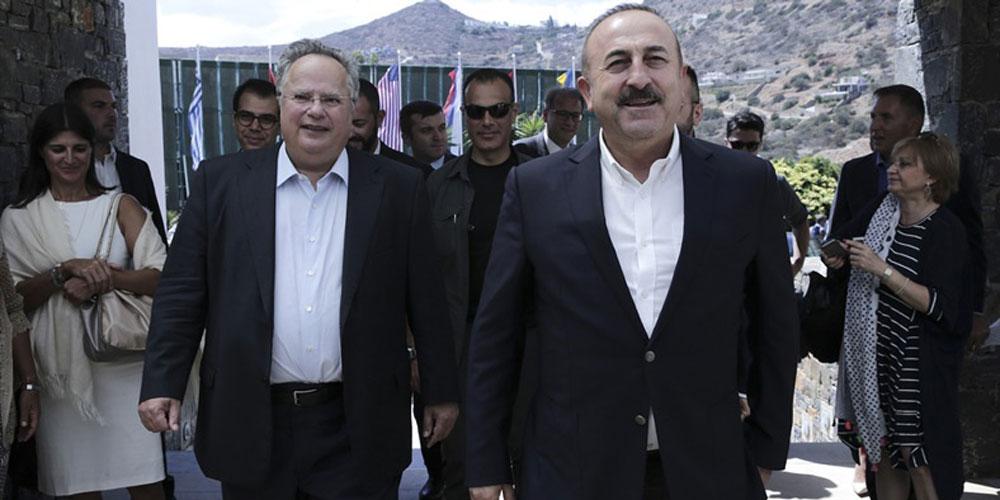 Çavuşoğlu ile Kocias Girit Adası'nda buluştu