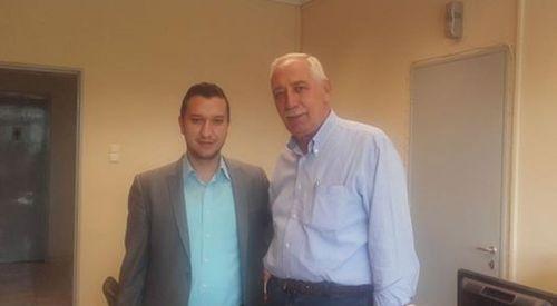 Kostas Nalbantis Önder Mümin'i ziyaret etti