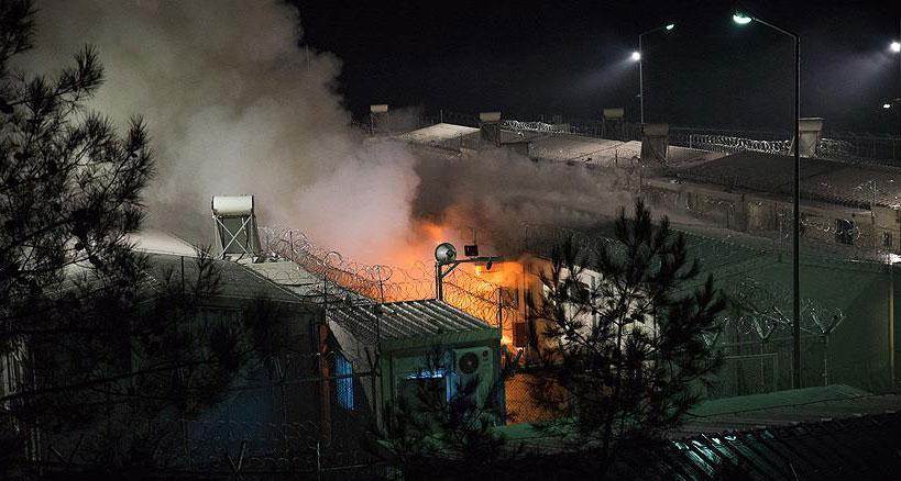 Midilli'de göçmen kampında patlama: 2 ölü, 2 yaralı