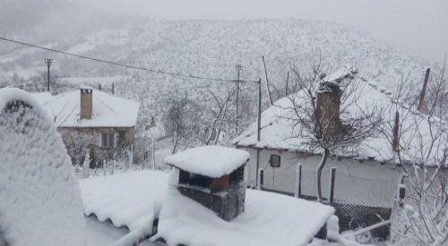 Dağlık bölgeler beyaza büründü