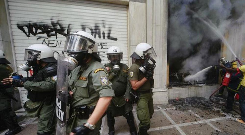 SYRIZA'nın parti binasına molotoflu saldırı düzenlendi
