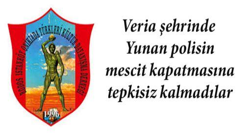 Rodos, İstanköy ve Onikiada Türkleri Derneği mescit kapatılmasını kınadı