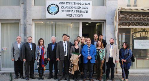 Amerikalı diplomatlar DEB Partisi yöneticileri ve Mustafçova Belediye Başkanı ile görüştüler