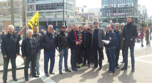 DEB Partisi yöneticileri İskeçe'de ırkçılığa karşı gösteriye katıldılar