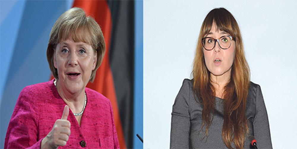 Merkel ablasına şirin görünmek isteyen Batı Trakyalı Cemile Yusuf