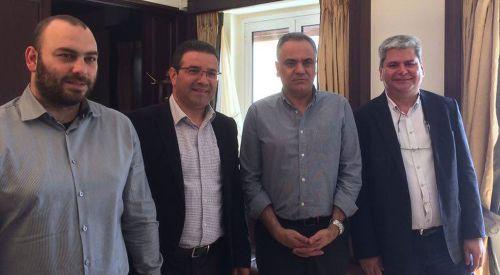 Milletvekili Zeybek ve Giannakidis ile Belediye Başkanı Kabza'dan Atina temasları