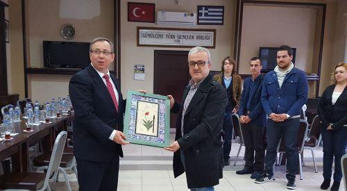 Edirne Trakya Ünivrsitesi rektörü Tabakoğlu GTGB'yi ziyaret etti