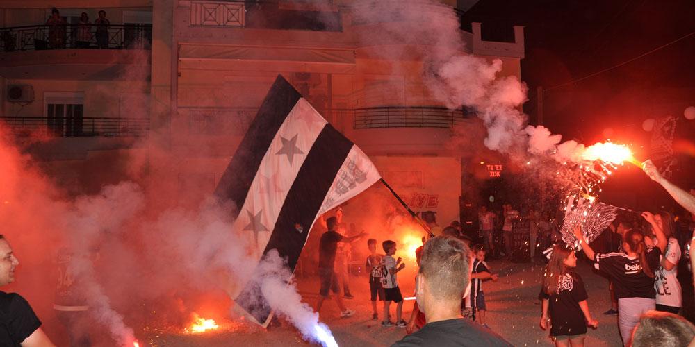Beşiktaş'ın şampiyonluğu Gümülcine'de kutlandı