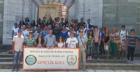 DEB Partisi İskeçe İl Teşkilatı Gençlik Kolu'ndan Edirne Gezisi