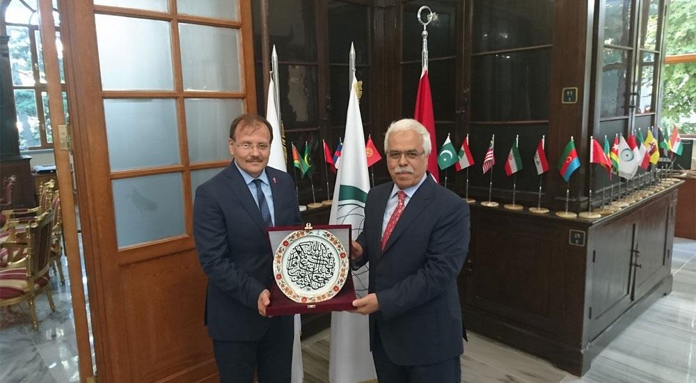 T.C. Başbakan Yardımcısı Çavuşoğlu IRCICA Genel Direktörü Eren'i ziyaret etti