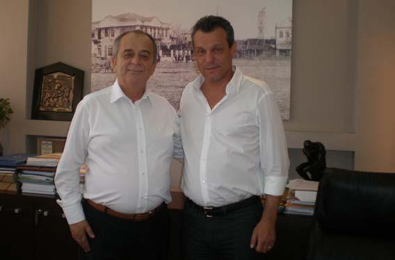 Rodop Milletvekili Ahmet Hacıosman Belediye Başkanı Petridis'i Ziyaret Etti