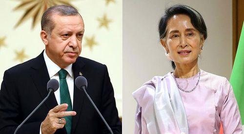 Erdoğan, Myanmar lideri Suu Çii ile görüştü