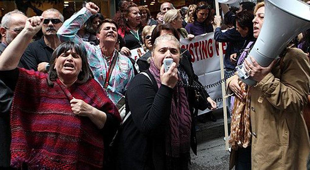 Yunan basın mensuplarından grev