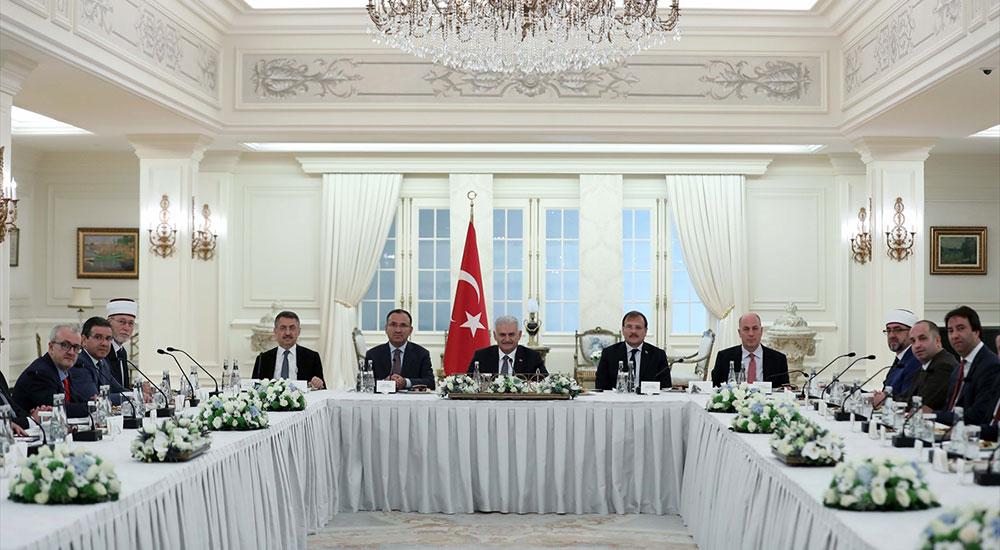 T.C. Başbakanı Yıldırım, Batı Trakya Türk Azınlık heyetini kabul etti