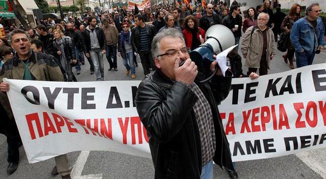 Yunan gazetecilerden 48 saatlik grev