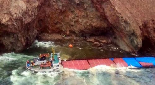 Türk gemisi Yunanistan'da karaya oturdu