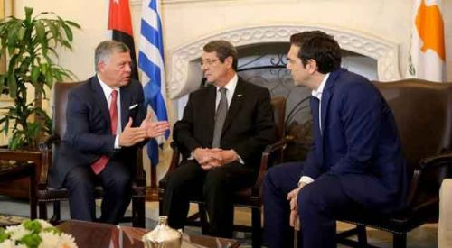 Kıbrıs'ta üçlü zirve gerçekleşti