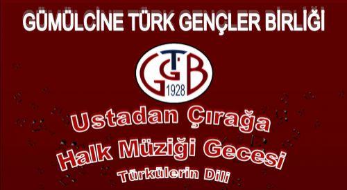 """GTGB'den """"Türk Halk Müziği Gecesi"""""""