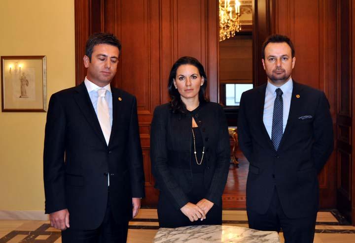 Turizm Bakanı Olga Kefalogianni TÜGİAD heyeti ile görüştü