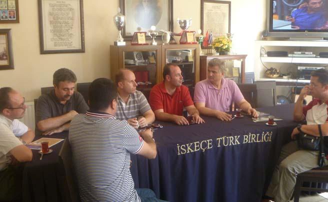 Tekirdağ'dan Bir Heyet İskeçe Türk Birliği'ni Ziyaret Etti