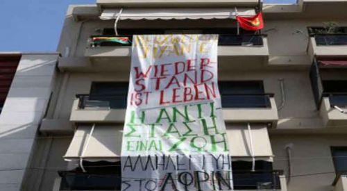 Almanya'nın Girit Konsolosluğunu işgal eden PKK'lılardan terör propagandası
