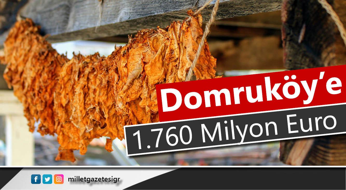 En fazla tütünü Domruköy üretiyor