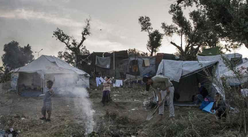 Midilli'deki sığınmacı kampında çocukların sağlığı tehlikede